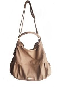 Steve Madden tan purse gold chain detail